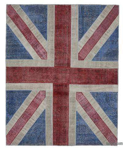Patchwork British Flag Rug - 8' x 10' (96 in. x 120 in.)