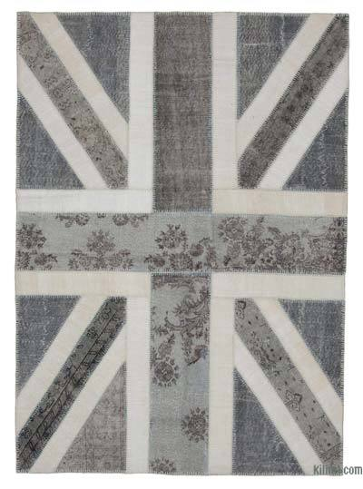 "Patchwork British Flag Rug - 5'9"" x 8' (69 in. x 96 in.)"