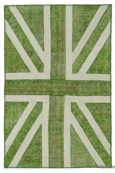 Patchwork British Flag Rug - 4'7'' x 7'1'' (55 in. x 85 in.)