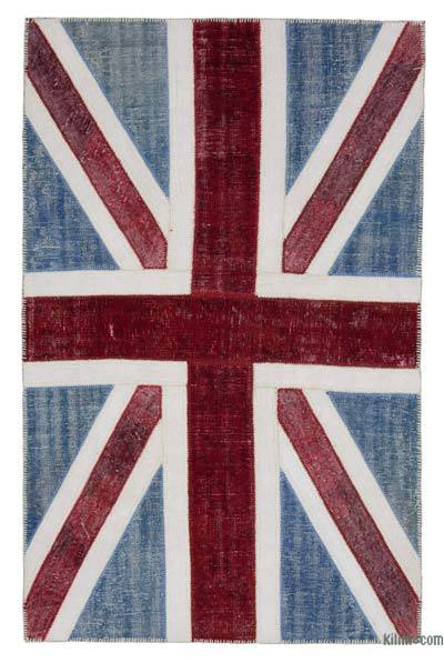 Patchwork British Flag Rug - 5' x 7'11'' (60 in. x 95 in.)