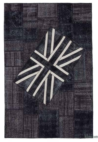 "Patchwork British Flag Rug - 6'6"" x 10' (78 in. x 120 in.)"