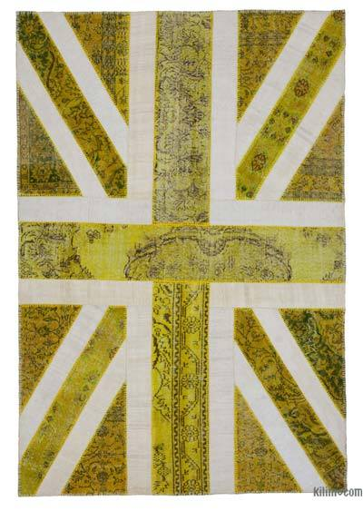 Patchwork British Flag Rug - 6'8'' x 9'11'' (80 in. x 119 in.)