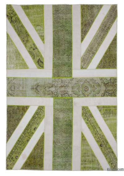 "Patchwork British Flag Rug - 6'7"" x 9'10"" (79 in. x 118 in.)"