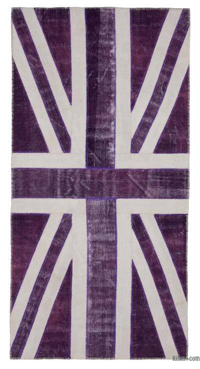 "Patchwork British Flag Rug - 5' x 9'11"" (60 in. x 119 in.)"