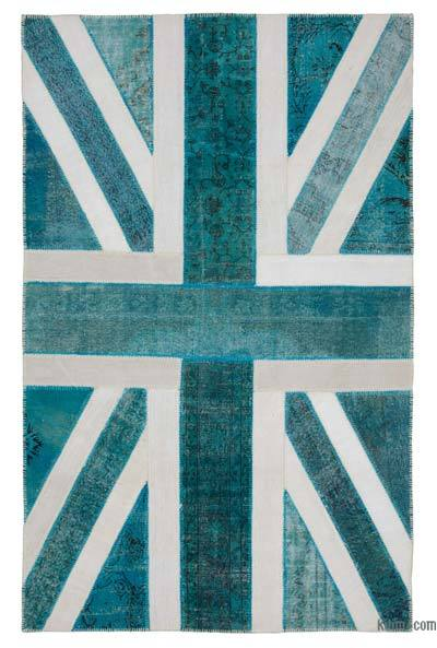 "Patchwork British Flag Rug - 6'3"" x 9'11"" (75 in. x 119 in.)"