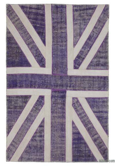 "Patchwork British Flag Rug - 4'6"" x 7' (54 in. x 84 in.)"