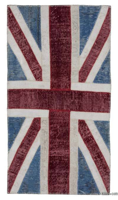 Patchwork British Flag Rug - 2'9'' x 5' (33 in. x 60 in.)