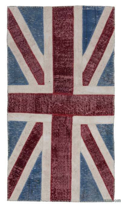 "Patchwork British Flag Rug - 2'8"" x 5' (32 in. x 60 in.)"