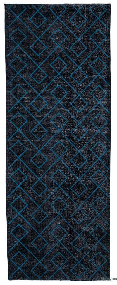 "Embroidered Over-dyed Turkish Vintage Runner - 4'11"" x 13' (59 in. x 156 in.)"