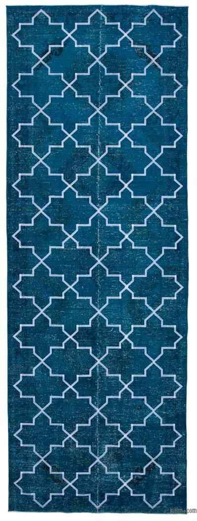 "Embroidered Over-dyed Turkish Vintage Runner - 4'9"" x 13'4"" (57 in. x 160 in.)"