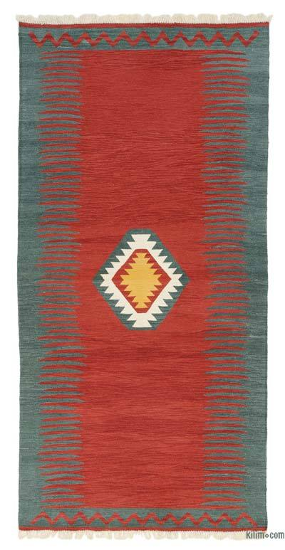 "New Handwoven Turkish Kilim Rug - 4' x 8'1"" (48 in. x 97 in.)"