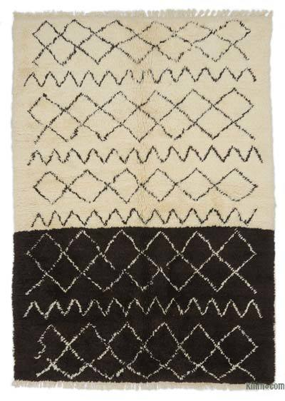 "New Contemporary Hand-Knotted Wool Area Rug - 6'1"" x 8'5"" (73 in. x 101 in.)"
