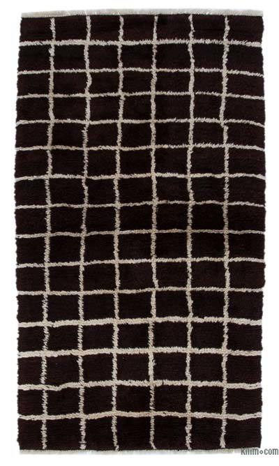 New Contemporary Hand-Knotted Wool Area Rug - 3'8'' x 6'6'' (44 in. x 78 in.)