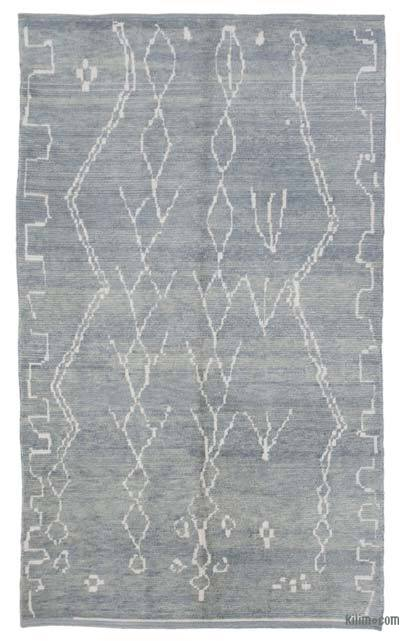 "New Contemporary Hand-Knotted Wool Area Rug - 6'1"" x 10' (73 in. x 120 in.)"