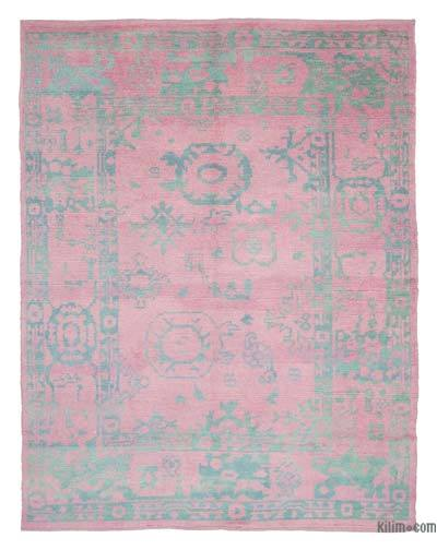 New Contemporary Hand-Knotted Wool Area Rug - 7'9'' x 9'11'' (93 in. x 119 in.)
