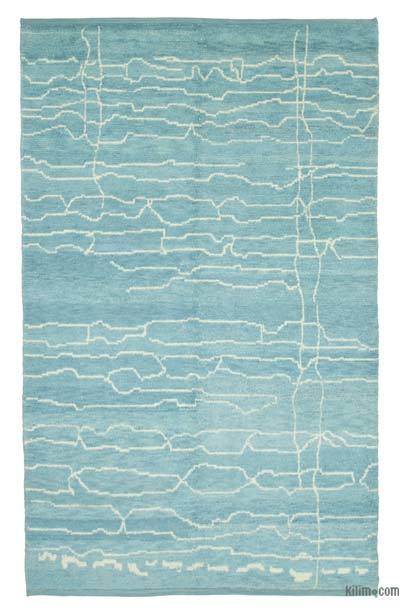 New Contemporary Hand-Knotted Wool Area Rug - 6'3'' x 10' (75 in. x 120 in.)