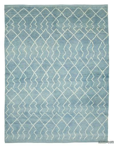 "New Contemporary Hand-Knotted Wool Area Rug - 7'11"" x 10'8"" (95 in. x 128 in.)"
