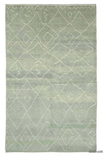 "New Contemporary Hand-Knotted Wool Area Rug - 7'4"" x 11'10"" (88 in. x 142 in.)"