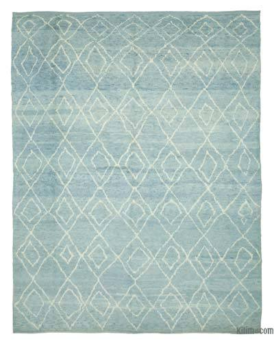 New Contemporary Hand-Knotted Wool Area Rug - 9'9'' x 12'4'' (117 in. x 148 in.)