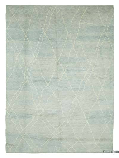 New Contemporary Hand-Knotted Wool Area Rug - 9'8'' x 13'4'' (116 in. x 160 in.)