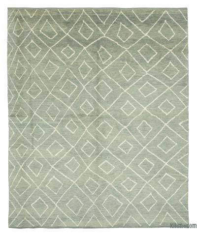 "New Contemporary Hand-Knotted Wool Area Rug - 8'8"" x 10'10"" (104 in. x 130 in.)"