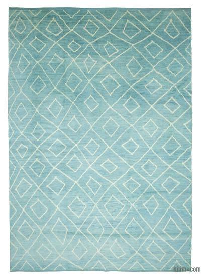 New Contemporary Hand-Knotted Wool Area Rug - 9'9'' x 14'3'' (117 in. x 171 in.)