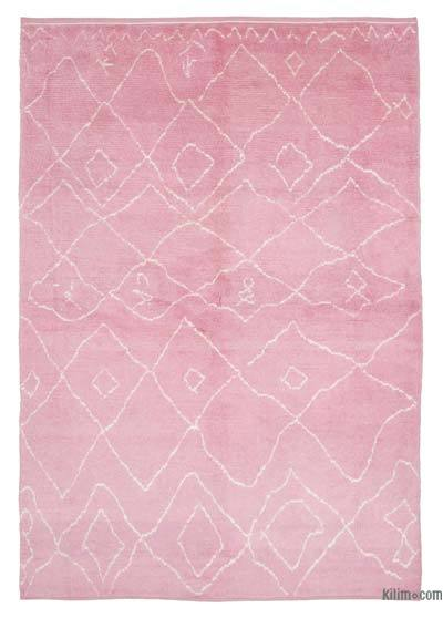 New Contemporary Hand-Knotted Wool Area Rug - 7' x 10'7'' (84 in. x 127 in.)