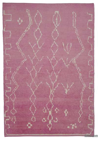 New Contemporary Hand-Knotted Wool Area Rug - 6'2'' x 9'1'' (74 in. x 109 in.)