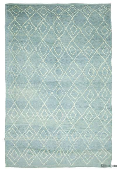 "New Contemporary Hand-Knotted Wool Area Rug - 9' x 13'7"" (108 in. x 163 in.)"
