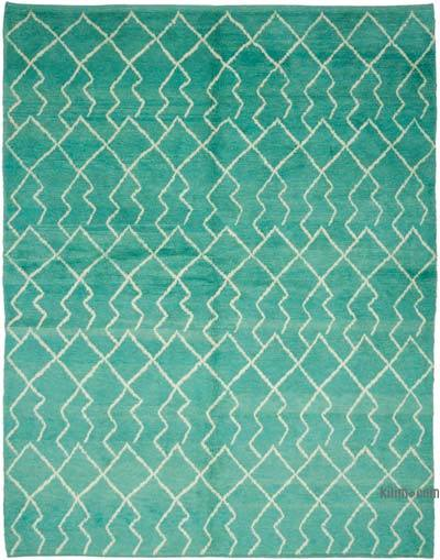 "New Contemporary Hand-Knotted Wool Area Rug - 7'6"" x 9'4"" (90 in. x 112 in.)"