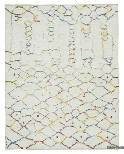 "New Contemporary Hand-Knotted Wool Area Rug - 7'5"" x 9'7"" (89 in. x 115 in.)"