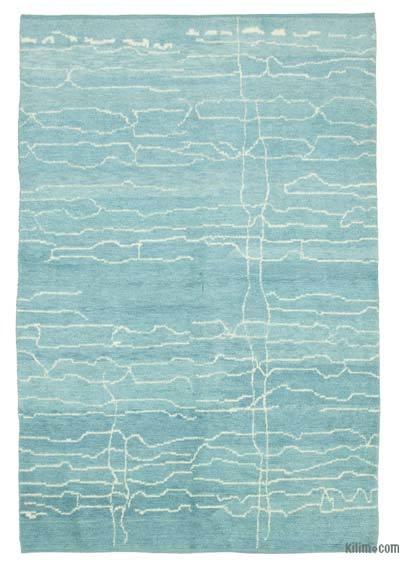 "New Contemporary Hand-Knotted Wool Area Rug - 6'5"" x 9'6"" (77 in. x 114 in.)"