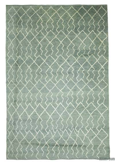 "New Contemporary Hand-Knotted Wool Area Rug - 9'2"" x 13'5"" (110 in. x 161 in.)"