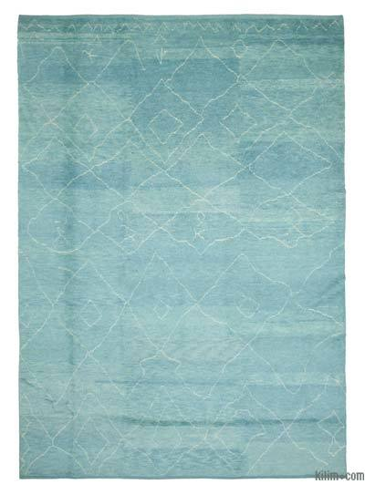 New Contemporary Hand-Knotted Wool Area Rug - 9'11'' x 13'10'' (119 in. x 166 in.)