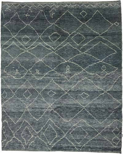 "New Contemporary Hand-Knotted Wool Area Rug - 7'10"" x 9'7"" (94 in. x 115 in.)"