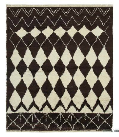 "New Contemporary Hand-Knotted Wool Area Rug - 7'10"" x 9'2"" (94 in. x 110 in.)"