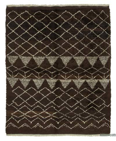 "New Contemporary Hand-Knotted Wool Area Rug - 7'1"" x 8'11"" (85 in. x 107 in.)"