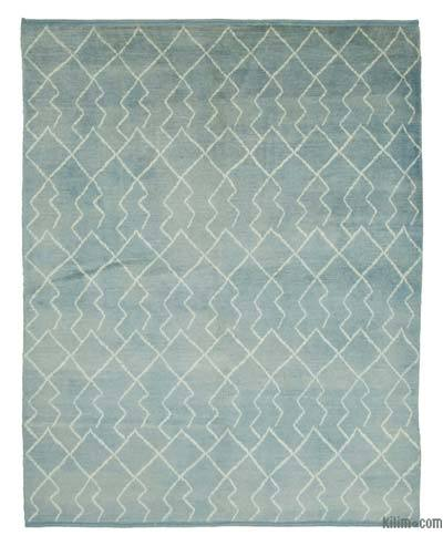 New Contemporary Hand-Knotted Wool Area Rug - 7'9'' x 9'7'' (93 in. x 115 in.)