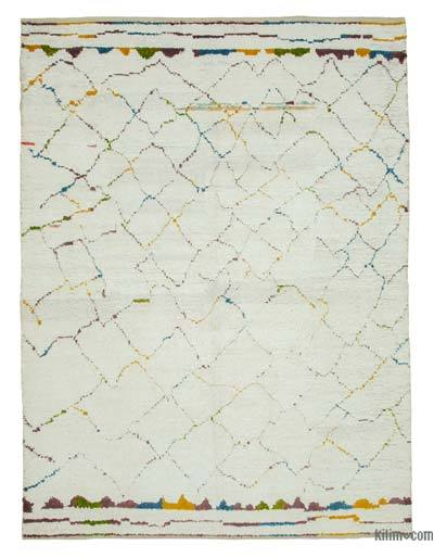 New Contemporary Hand-Knotted Wool Area Rug - 8'3'' x 11'4'' (99 in. x 136 in.)