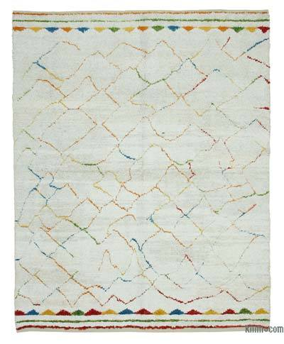 "New Contemporary Hand-Knotted Wool Area Rug - 7'9"" x 9'5"" (93 in. x 113 in.)"