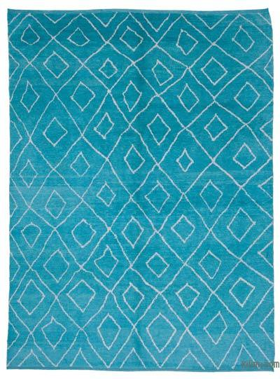 New Contemporary Hand-Knotted Wool Area Rug - 9'3'' x 12'10'' (111 in. x 154 in.)