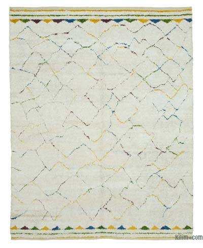 "New Contemporary Hand-Knotted Wool Area Rug - 7'6"" x 9'2"" (90 in. x 110 in.)"