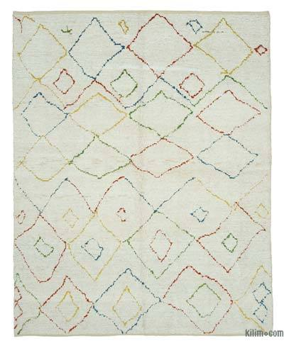 New Contemporary Hand-Knotted Wool Area Rug - 7'10'' x 10' (94 in. x 120 in.)