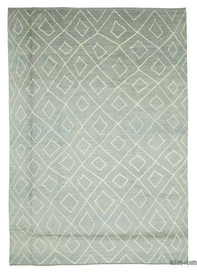 "New Contemporary Hand-Knotted Wool Area Rug - 9'5"" x 13'7"" (113 in. x 163 in.)"