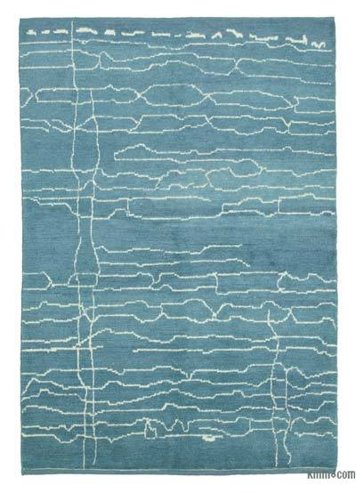 "New Contemporary Hand-Knotted Wool Area Rug - 6'3"" x 9' (75 in. x 108 in.)"