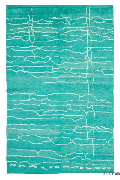 "New Contemporary Hand-Knotted Wool Area Rug - 6'4"" x 10' (76 in. x 120 in.)"