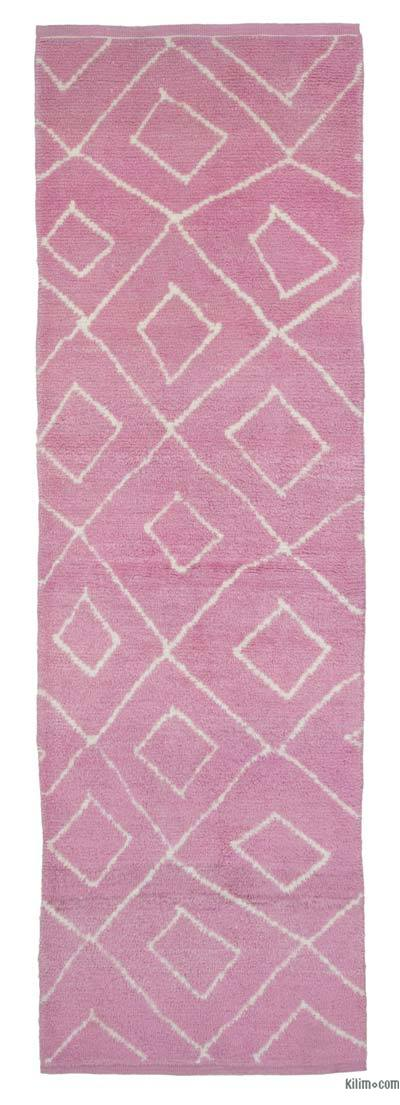"New Contemporary Hand-Knotted Wool Runner Rug - 3'3"" x 10'6"" (39 in. x 126 in.)"