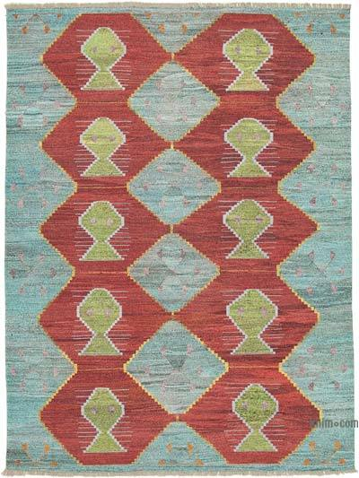 "New Contemporary Handwoven Wool Rug - 8'11"" x 12'3"" (107 in. x 147 in.) - Old Yarn"