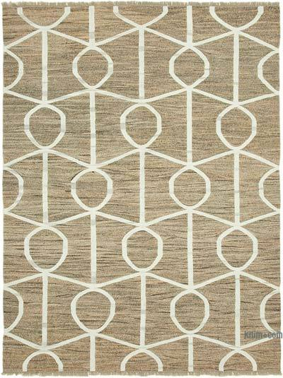 New Contemporary Handwoven Wool Rug - 8'1'' x 10'6'' (97 in. x 126 in.) - Old Yarn