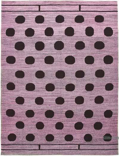New Contemporary Handwoven Wool Rug - 6'7'' x 9'3'' (79 in. x 111 in.) - Old Yarn
